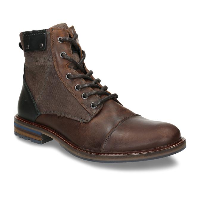 Pánská kotníková obuv v hnědé kůži bata, hnědá, 896-4725 - 13