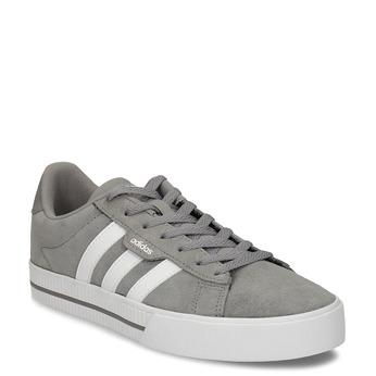 Kožené pánské tenisky v šedobílé variantě adidas, šedá, 803-2372 - 13