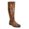 Hnědé dámské kožené kozačky s jemným šitím gabor, hnědá, 594-4332 - 13