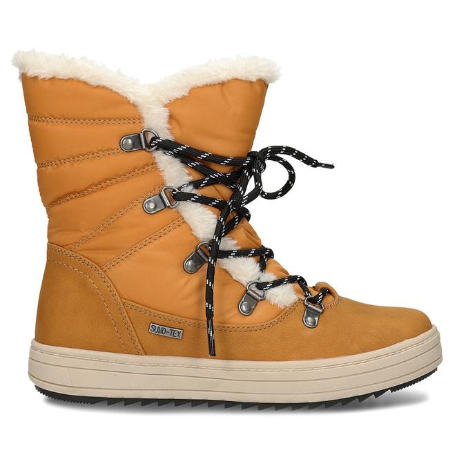Zimní dámská obuv s huňatým kožíškem bata, žlutá, 599-8630 - 19