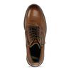 Hnědá kožená pánská obuv s prošíváním a dvěma zipy bata, hnědá, 896-3610 - 17