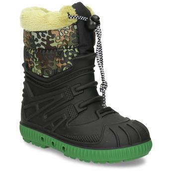 Sněhule dětské zelené s kontrastní podrážkou mini-b, černá, 392-6603 - 13