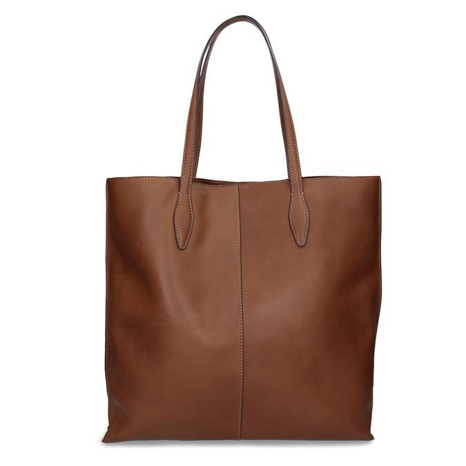 Hnědá kožená kabelka střední velikosti bata, hnědá, 964-4608 - 16