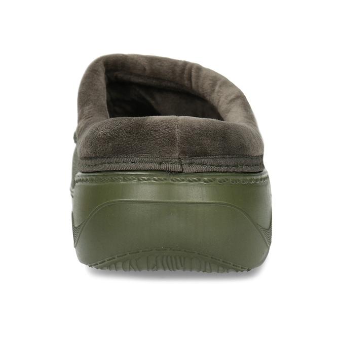 Khaki pánské pantofle se zateplením coqui, zelená, 872-7711 - 15
