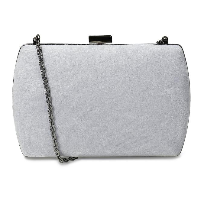 Šedá kabelka s kovovým zapínáním i uchem bata, šedá, 961-2915 - 16