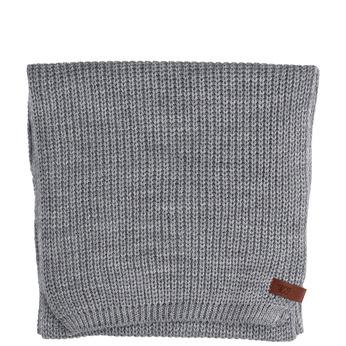 Šedá pletená šála bata, šedá, 909-2691 - 13