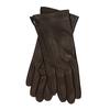 Tmavě hnědé dámské kožené rukavice junek, hnědá, 944-4212 - 13