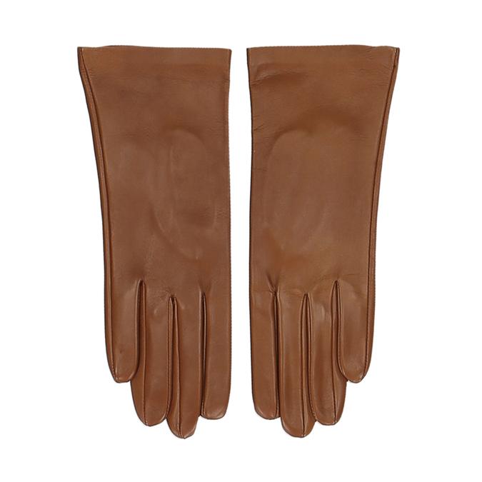 Hnědé dámské kožené rukavice junek, hnědá, 944-3101 - 26