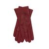 Červen dámské kožené rukavice junek, červená, 944-5101 - 13