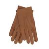 Světle hnědé dámské kožené rukavice s řasením junek, hnědá, 944-3118 - 13