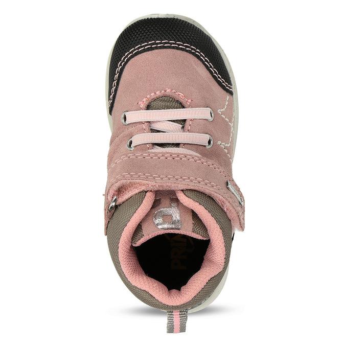 Růžová kožené dětská a obuv v outdoorovém stylu primigi, růžová, 123-5622 - 17