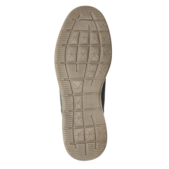 Šedá pánská kožená kotníková obuv na zimu weinbrenner, šedá, 896-2649 - 18