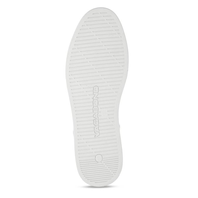 Hnědé pánské kožené tenisky s bílou podešví vagabond, hnědá, 844-3602 - 18