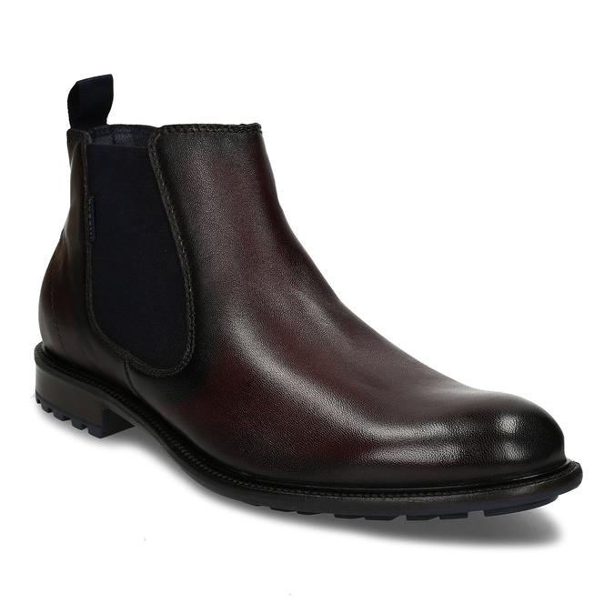 Tmavě hnědá kožená Chelsea obuv bugatti, hnědá, 896-4880 - 13