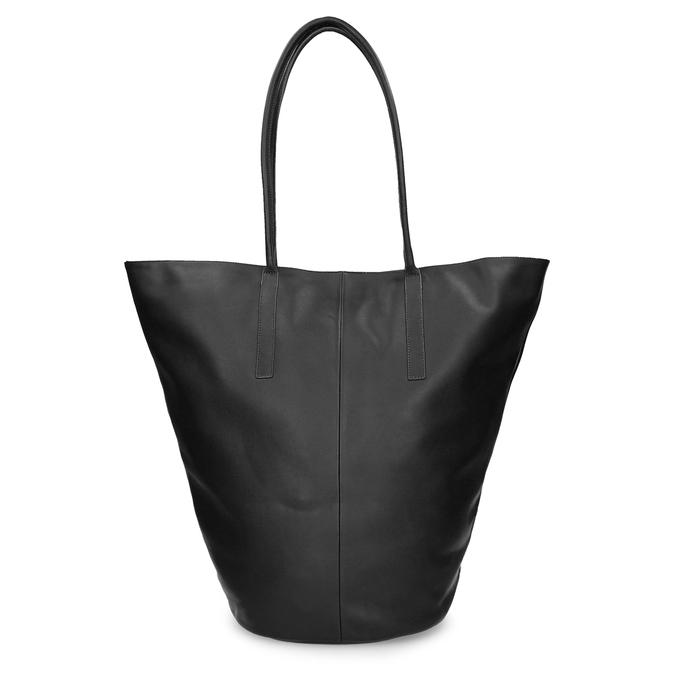 Kožená dámská kabelky s asymetrickým střihem vagabond, černá, 964-6618 - 26