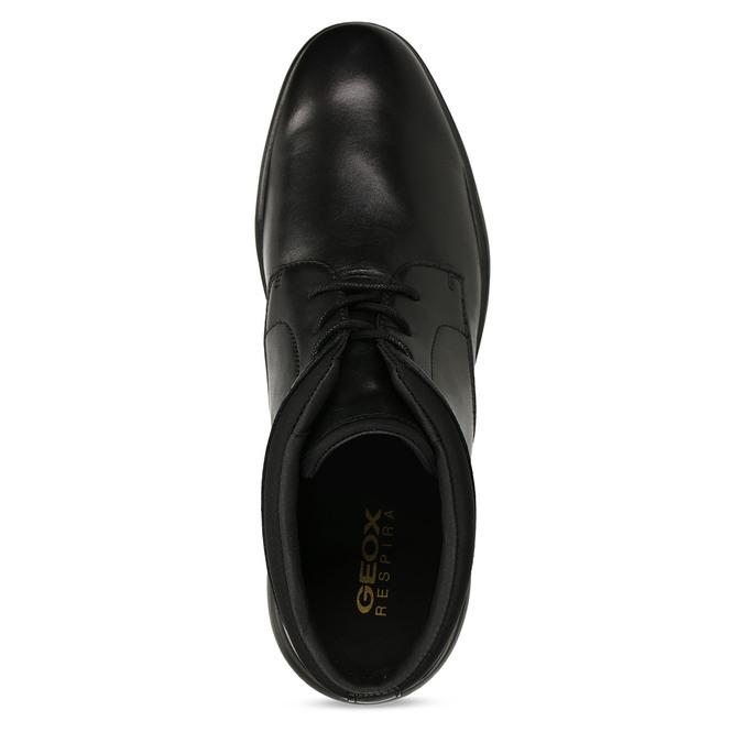Černá kožená kotníková obuv geox, černá, 896-6702 - 17