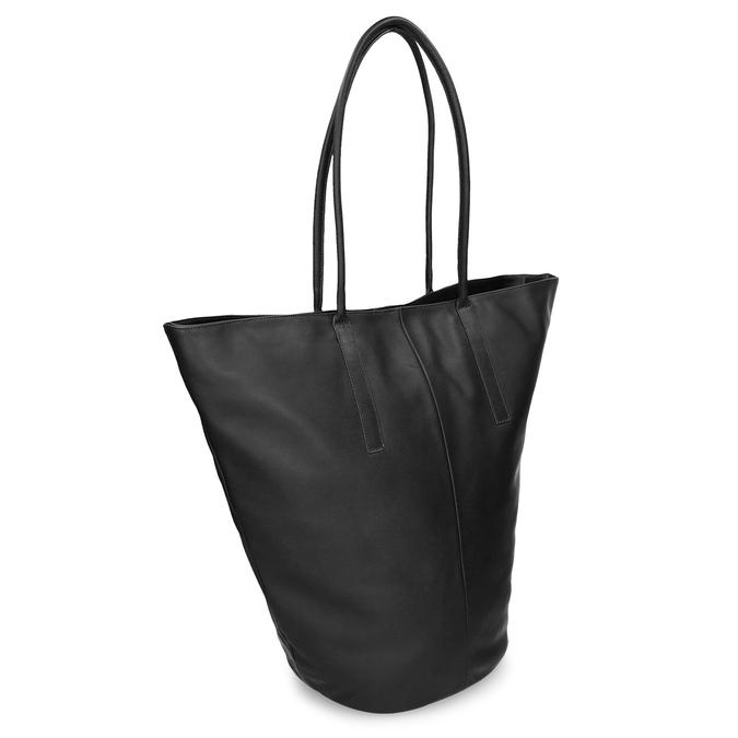 Kožená dámská kabelky s asymetrickým střihem vagabond, černá, 964-6618 - 13