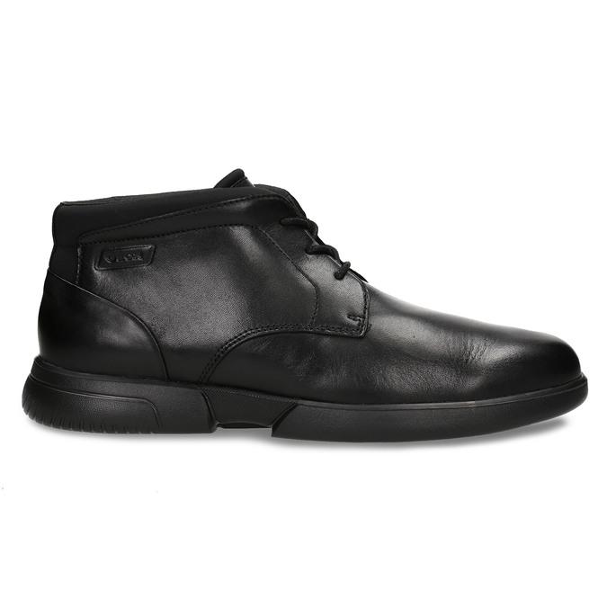 Černá kožená kotníková obuv geox, černá, 896-6702 - 19