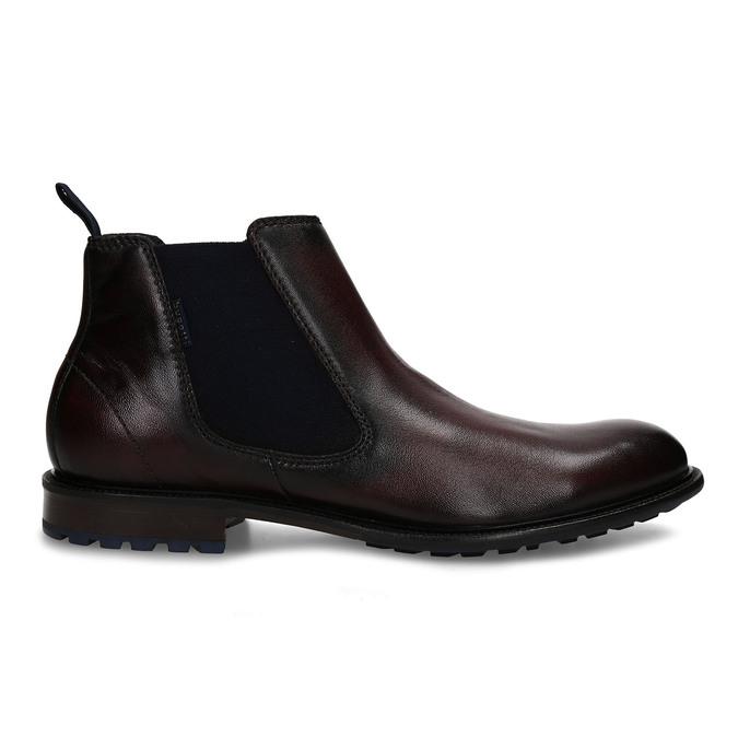 Tmavě hnědá kožená Chelsea obuv bugatti, hnědá, 896-4880 - 19