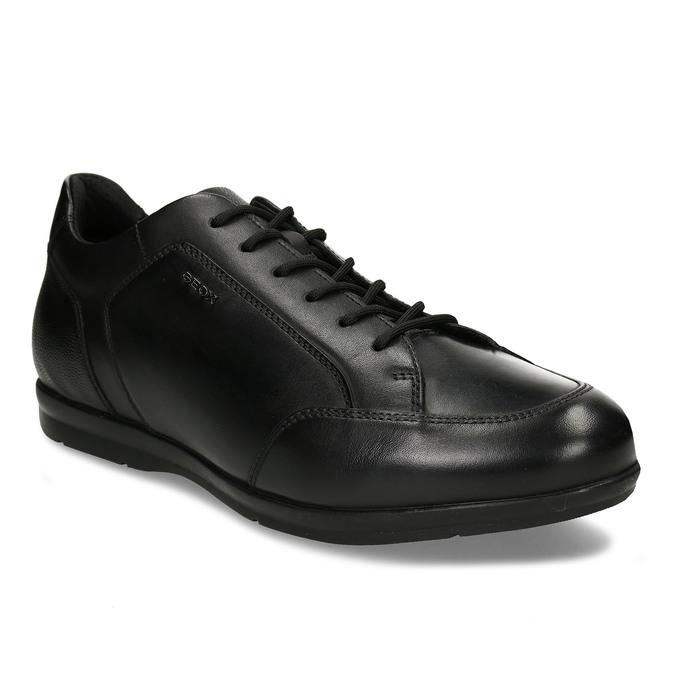 Kožené pánské ležérní tenisky černé geox, černá, 826-6700 - 13