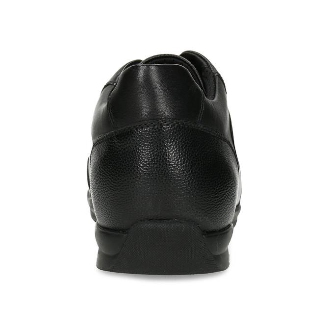 Kožené pánské ležérní tenisky černé geox, černá, 826-6700 - 15