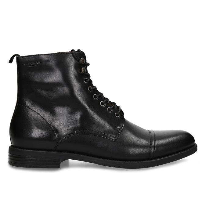 Elegantní pánská kotníková obuv kožená vagabond, černá, 894-6609 - 19