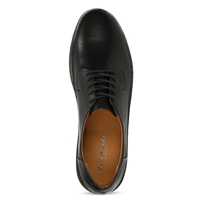 Černé pánské kožené tenisky s vyšší podešví vagabond, černá, 844-6601 - 17