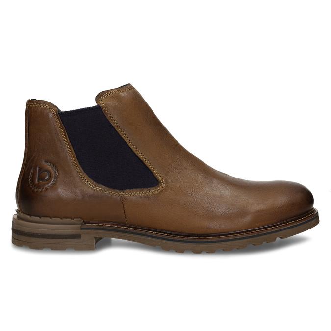 Hnědá pánská kožená Chelsea obuv bugatti, hnědá, 896-4893 - 19
