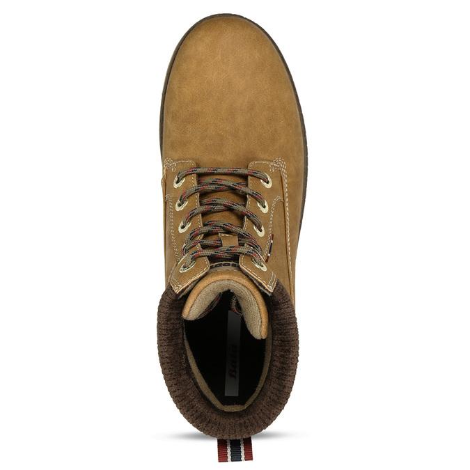 Hnědá pánská kotníková obuv ve farmářském stylu bata, hnědá, 891-8658 - 17