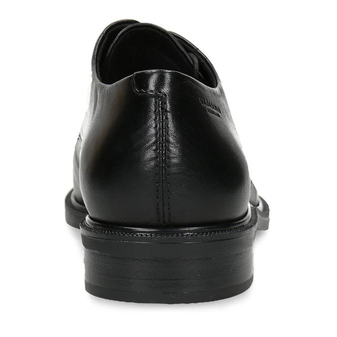 Černé dámské kožené polobotky vagabond, černá, 524-6632 - 15