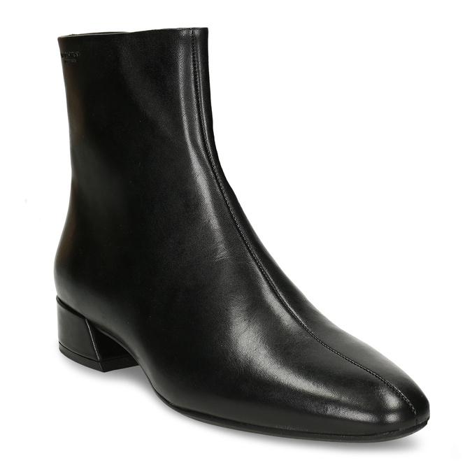 Kožená černá dámská kotníková obuv vagabond, černá, 694-6652 - 13