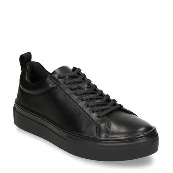 Černé dámské kožené tenisky vagabond, černá, 544-6609 - 13