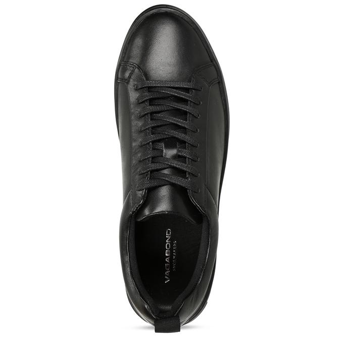 Černé dámské kožené tenisky vagabond, černá, 544-6609 - 17