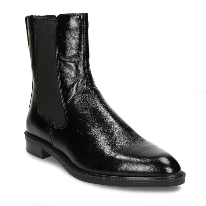 Černá kožená dámská obuv v Chelsea stylu vagabond, černá, 598-6629 - 13