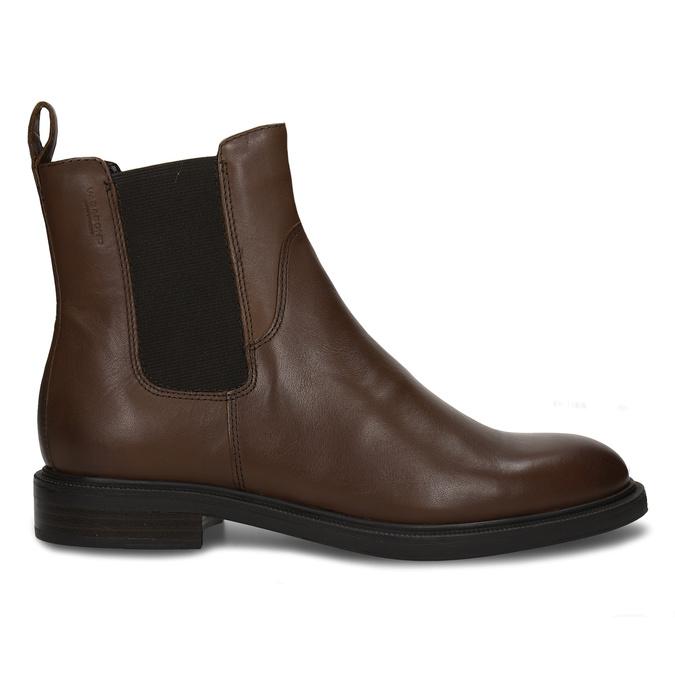 Hnědá kotníková dámská kožená obuv vagabond, hnědá, 594-4628 - 19