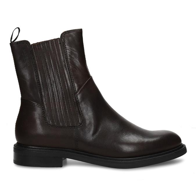 Hnědá dámská kožená kotníková obuv vagabond, hnědá, 594-4625 - 19