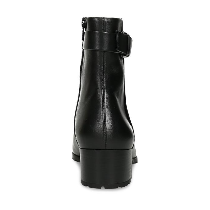 Černá dámská kožená kotníková obuv zimní hogl, černá, 694-6619 - 15
