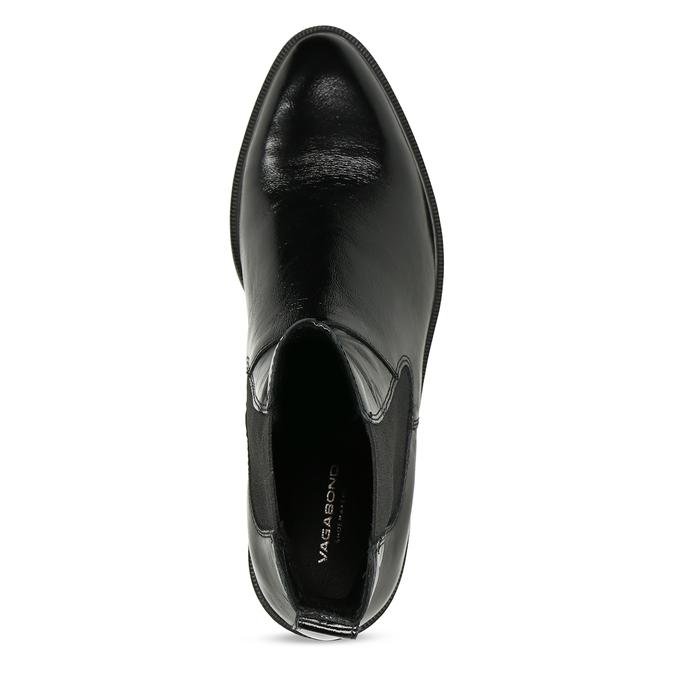 Černá kožená dámská obuv v Chelsea stylu vagabond, černá, 598-6629 - 17