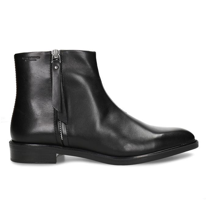 Kožená dámská kotníková obuv na zip vagabond, černá, 594-6703 - 19