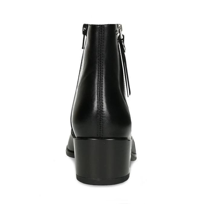 Kožená dámská černá kotníková obuv do špičky vagabond, černá, 694-6650 - 15