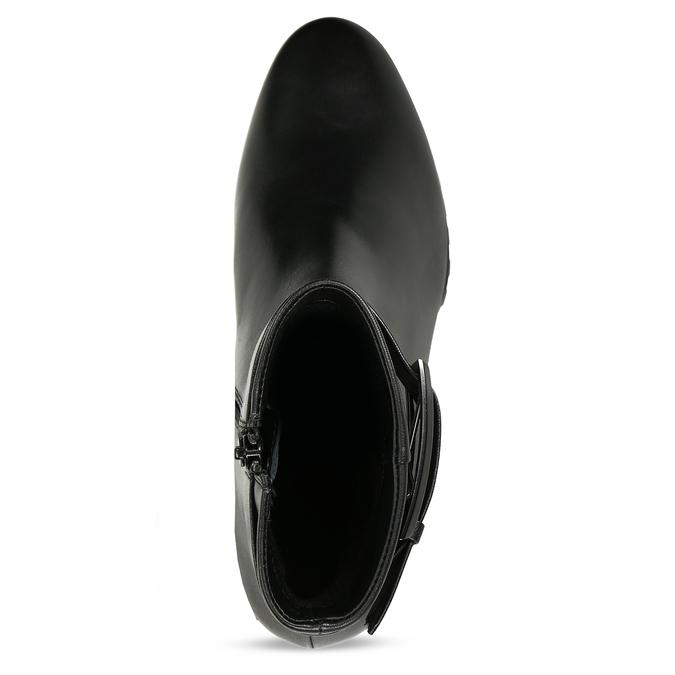 Černá dámská kožená kotníková obuv zimní hogl, černá, 694-6619 - 17