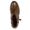 Hnědá dámská kožená kotníková obuv pikolinos, hnědá, 696-4628 - 17