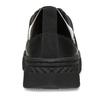 Černé dámské kožené tenisky s lakovanými detaily geox, černá, 546-6700 - 15