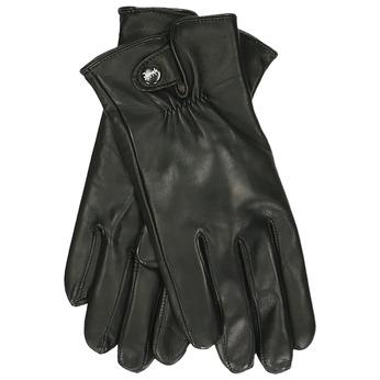 Pánské kožené rukavice černé junek, černá, 944-6112 - 13