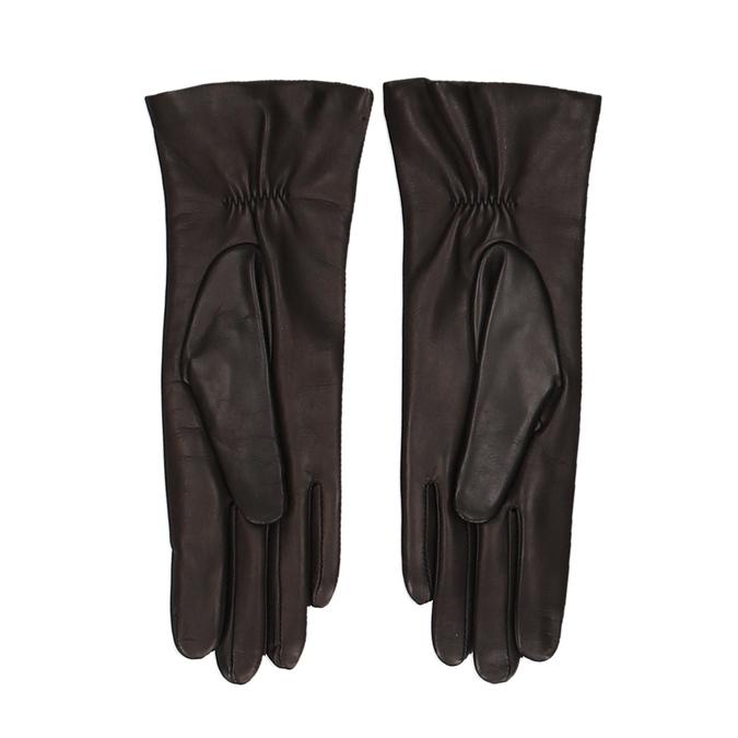 Tmavě hnědé dámské kožené rukavice junek, hnědá, 944-4257 - 16