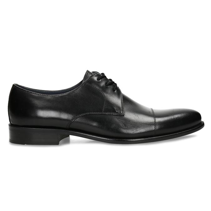 Černé kožené polobotky v derby stylu bata, černá, 824-6657 - 19