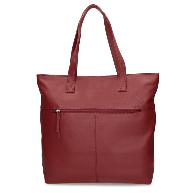 Kožená dámská vínová kabelka bata, červená, 964-5611 - 16
