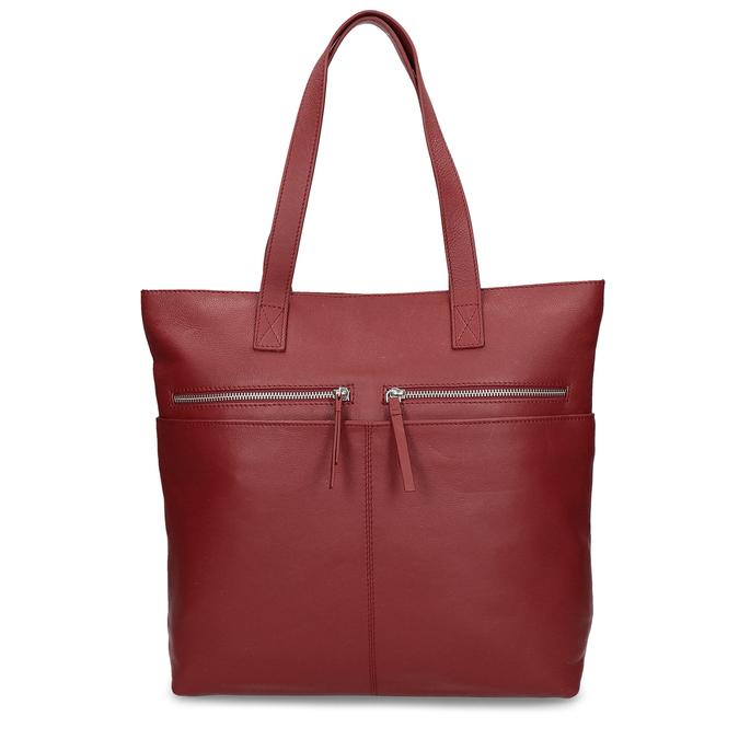 Kožená dámská vínová kabelka bata, červená, 964-5611 - 26