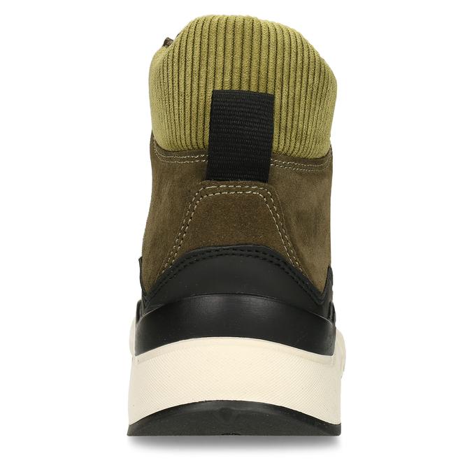 Zelená pánská kožená kotníková obuv na zimu bata, zelená, 893-7620 - 15