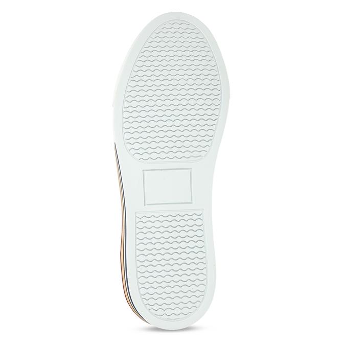 Pánské kožené ležérní tenisky bata, šedá, 846-2616 - 18